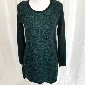 *HOLIDAYS*  Green Hi-Lo Sweater w/SPARKLE   MEDIUM